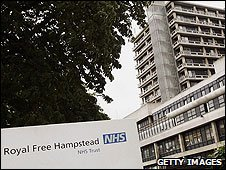 The 66-year-old-man died at the Royal Free Hospital