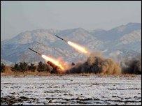 Испытание северокорейских ракет