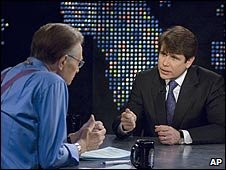 Former Illinois Governor Rod Blagojevich appears on CNN's Larry King Live (26/01/2009)