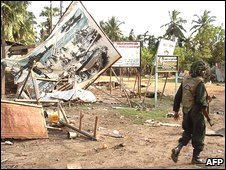 Sri Lanka soldier in Mullaittivu district