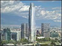 Imagen del proyecto Costanera Center. Foto cortesía http://www.cencosud.cl/