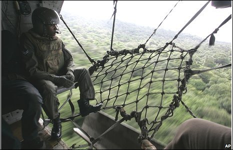 Army helicopter flies towards Mullaitivu