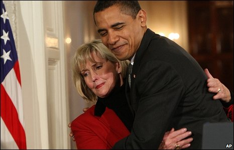 Lilly Ledbetter was visibly moved