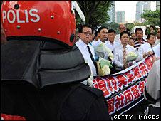 Protesters in Kuala Lumpur