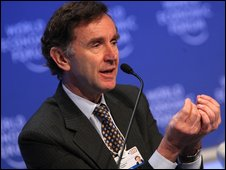HSBC chairman Stephen Green in Davos
