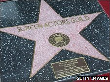 Screen Actors Guild star in Hollywood's Hall of Fame