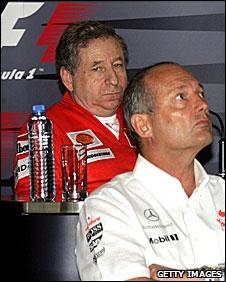 Former Ferrari boss Jean Todt and out-going McLaren team principal Ron Dennis