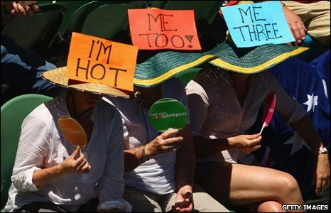 Fans at the Australian Open in Melbourne