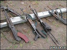 Weapons from militia fighters (Image: Gorilla.cd)