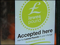 Lewes Pound sign