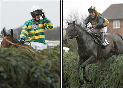 (L) McCoy on Clan Royal; (R) McCoy clears a flight on Blowing Wind