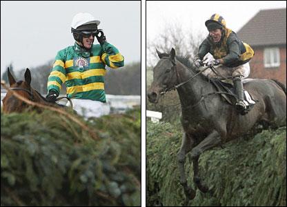 (L) McCoy on Clan Royal; (R) McCoy clears a flight on Blowing Wind