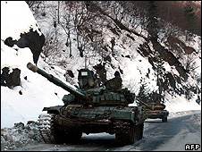Russian tanks in S Ossetia, 21 Jan 09