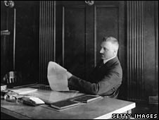 Amadeo Peter Giannini in his office, 1923