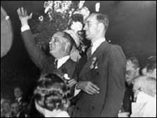 FDR appears at 1932 Democratic convention