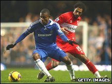 Salomon Kalou in action for Chelsea