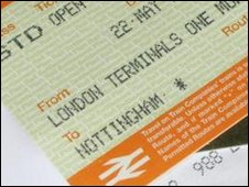Rail tickets