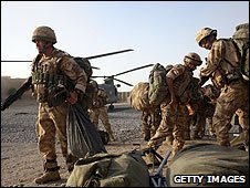 British army troops in Afghanistan