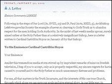 The letter on Mr Wlliamson's blog