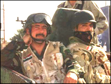 Iraqi soldiers in Basra