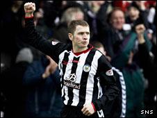 St Mirren striker Dennis Wyness