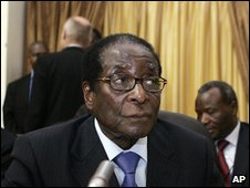 Robert Mugabe at Pretoria talks - photo 26 January