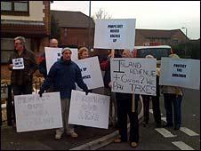 Protest in Bradley Stoke