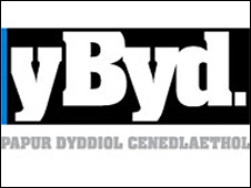 Y Byd (The World) logo