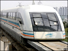 A Maglev train