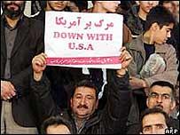 Pancarta anti estadounidense