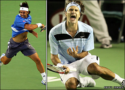 Fernando Gonzalez and Roger Federer
