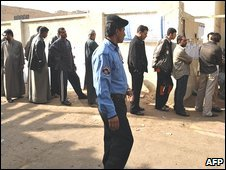 Polling station in Basra on Saturday