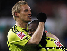 Gary Teale (left) celebrates with Derby