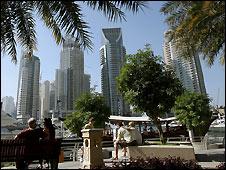 Dubai skyline - 22/12/2008
