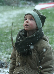Boy playing in snow (Pic: Andrew Mark)