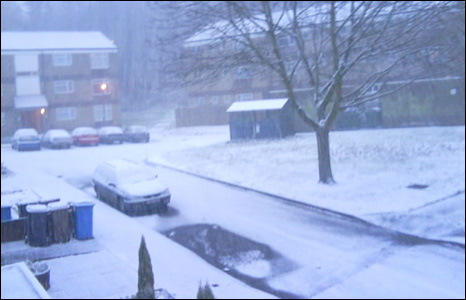 Snow in Ispwich street (Pic: Daniel Crack)