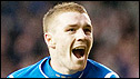 John Fleck scored his first goal for Rangers