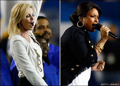 Faith Hill and Jennifer Hudson perform