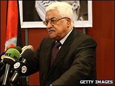 Palestinian leader Mahmoud Abbas speaking in Cairo, Egypt (01/02/2009)