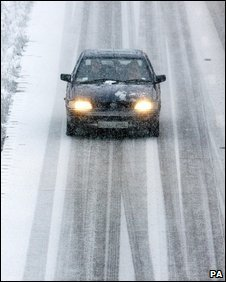 Motorist on the M20 in Kent