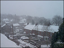 Picture of snow in Saddleworth