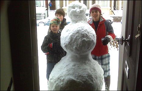 Snowman in Hammersmith
