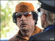 Libyan leader Muammar Gaddafi (1.2.09)