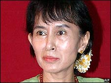 Burma's detained pro-democracy leader Aung San Suu Kyi (file photo)