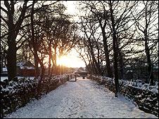Snow scene in Calverley, Bradford