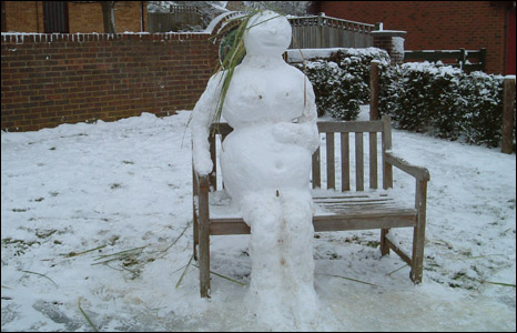 Snowman in East Sussex