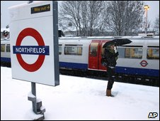 A commuter at a Tube station