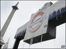 Trafalgar Square, 2 February 2009