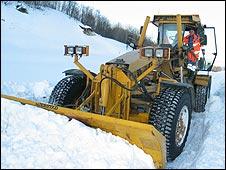 Snow plow in Tromso
