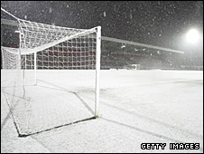 Heavy snow has disrupted the British sporting programme